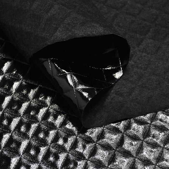 Umetno usnje Kapitone, 21187-14, črna