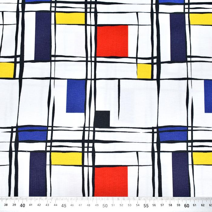 Jersey, bombaž, digital, geometrijski, 21196