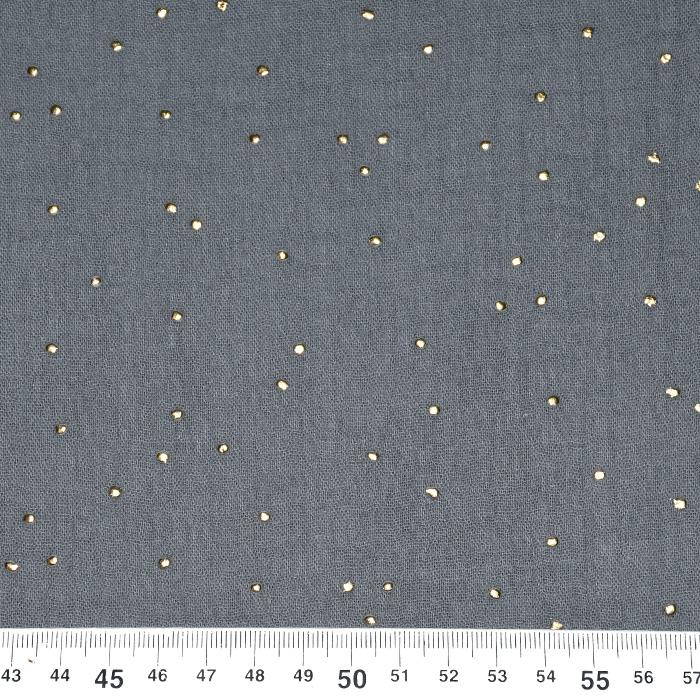 Tetra tkanina, dvojna, pike, 20757-6, siva