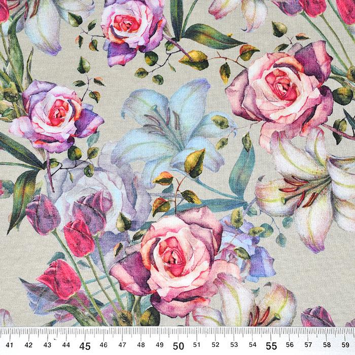 Jersey, bombaž, digital, cvetlični, 21200-62797