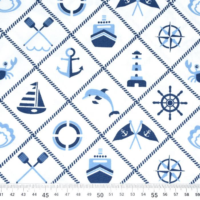 Jersey, bombaž, morski, 21203-62827, bela