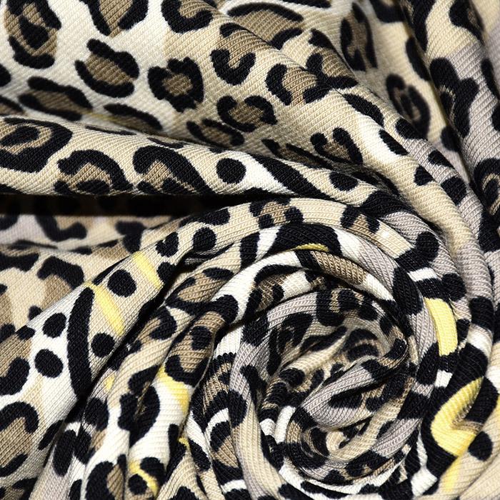 Jersey, pamuk, životinjski, 21210-63370, smeđa