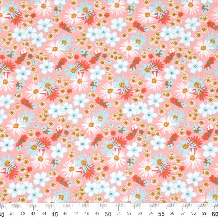 Jersey, bombaž, cvetlični, 21250