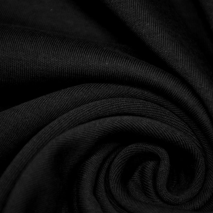 Jersey, bombaž, interlock, 21265-999, črna