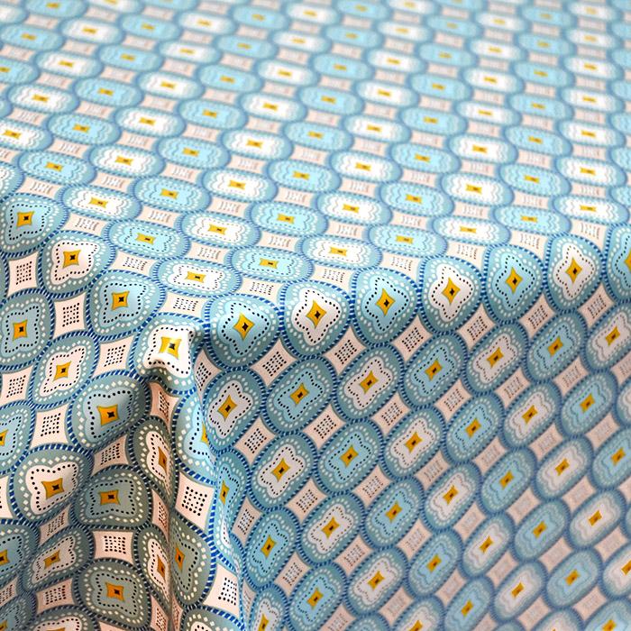 PVC za prte, ornamentni, 21307-2, turkizna