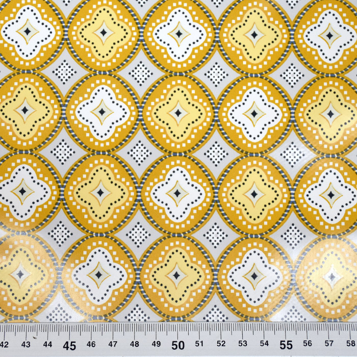 PVC za prte, ornamentni, 21307-3, rumena