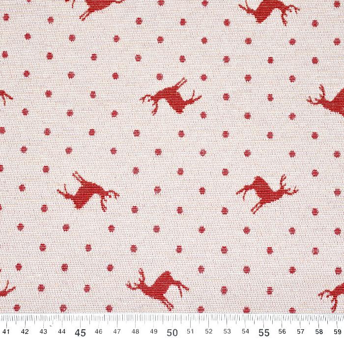 Deko žakard, praznični, 21310-29, rdeča