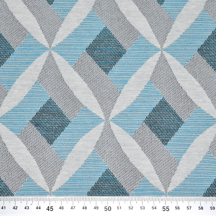 Deko žakard geometrijski, 21313-42, turkizna
