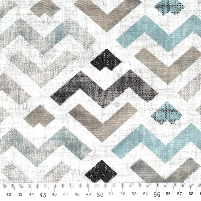 Deko, tisk, geometrijski, 21319-2, mint