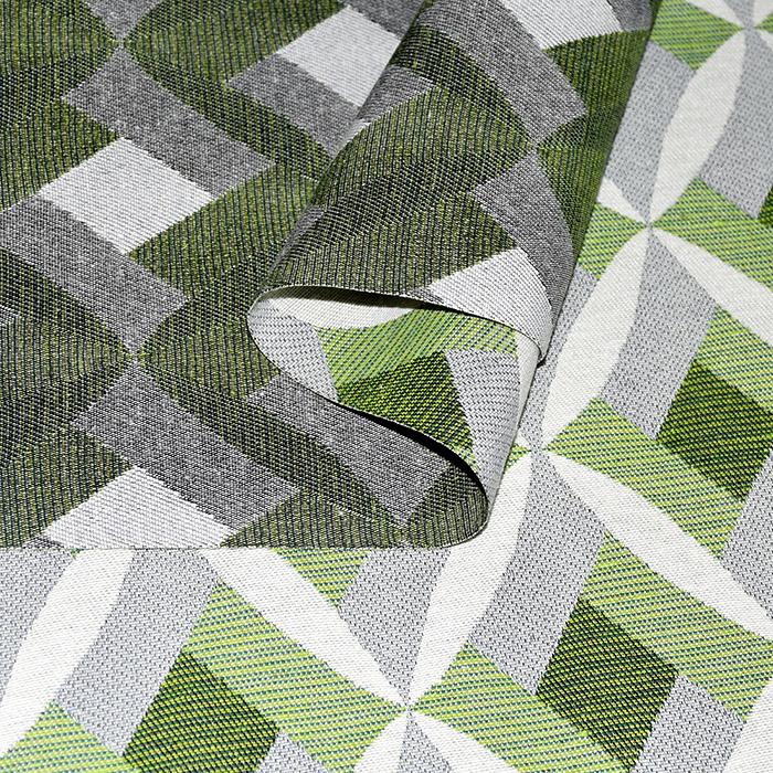Deko žakard, geometrijski, 21313-37, zelena