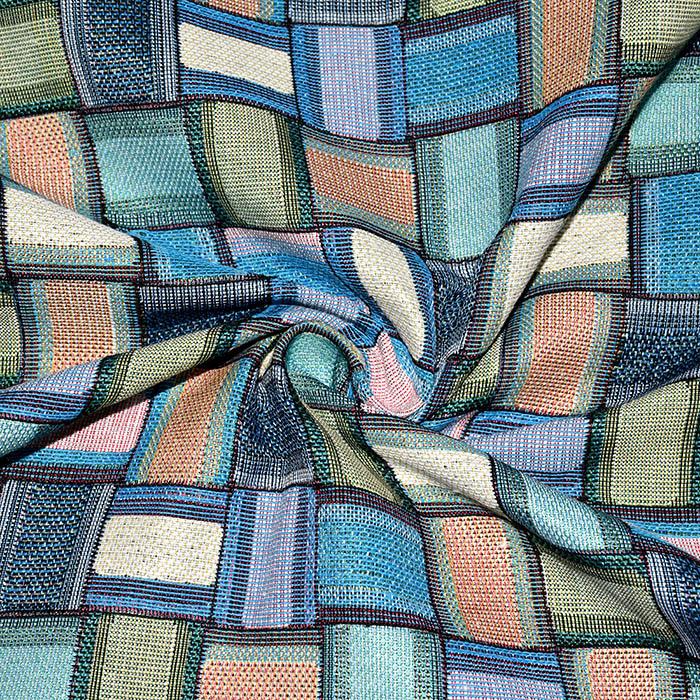 Deko žakard, geometrijski, 21322-48, modra