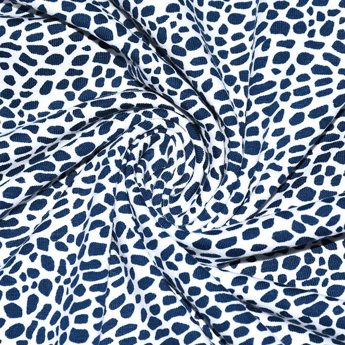 Jersey, bombaž, mozaik, 21291-0215, belo modra