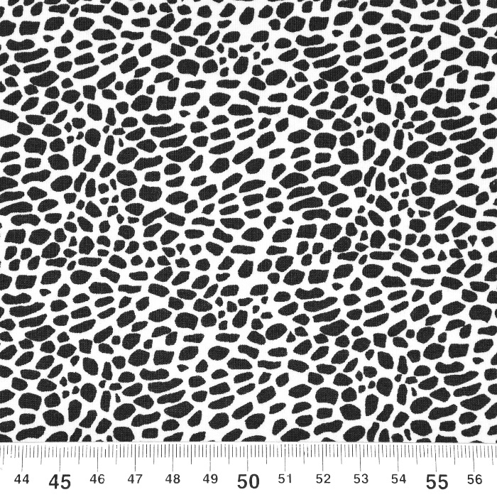 Jersey, bombaž, mozaik, 21291-02, belo črna
