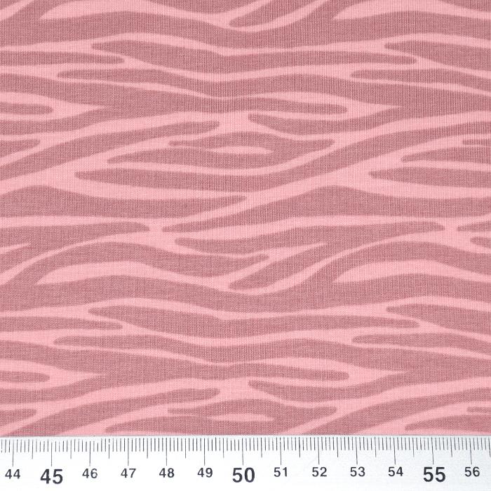 Jersey, bombaž, živalski, 21342-12, roza