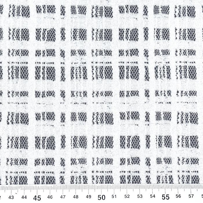 Čipka, elastična, geometrijski, 21351-2, bela