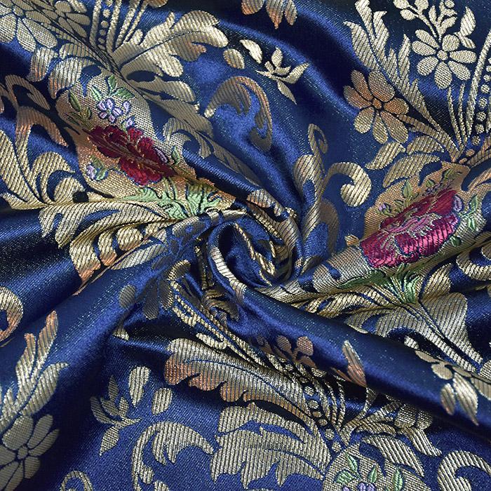 Žakard, stilni, 21355-1, modra