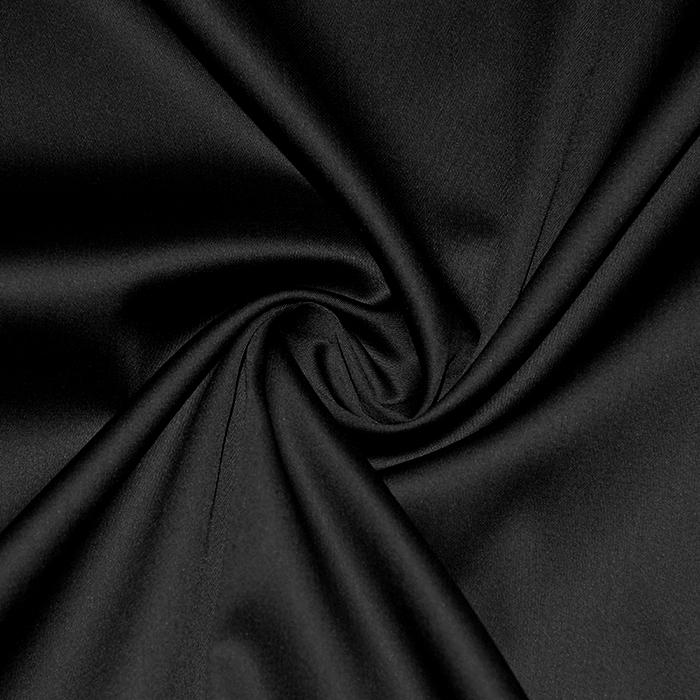 Saten, bombaž, 21360-8, črna