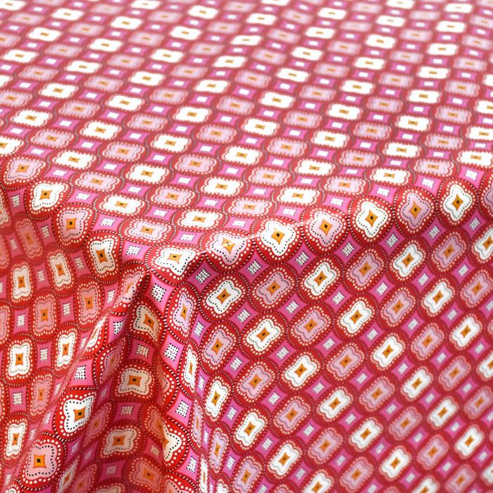 PVC za prte, ornamentni, 21307-1, rdeča