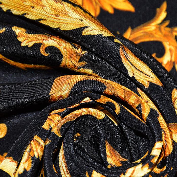 Svila, tisk, ornamentni, 21373-5