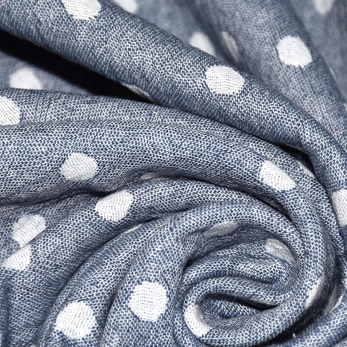 Tetra tkanina, obojestranska, pike, 21404-007, modra