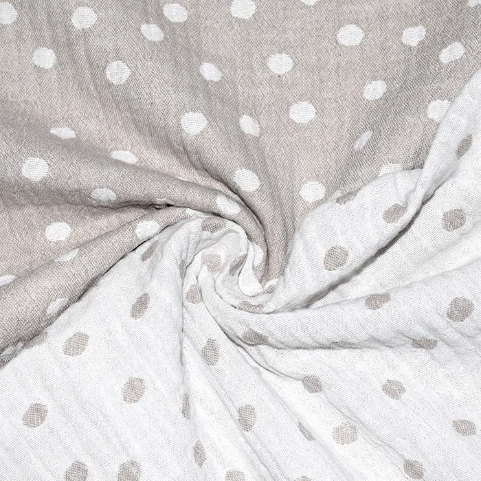 Tetra tkanina, obojestranska, pike, 21404-055, bež