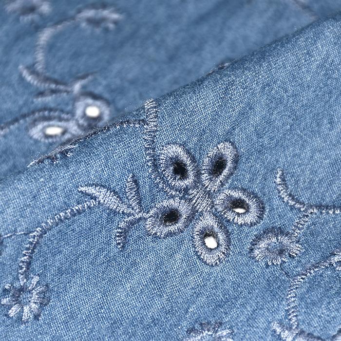 Jeans, srajčni, rišelje, 21410-006, cvetlični