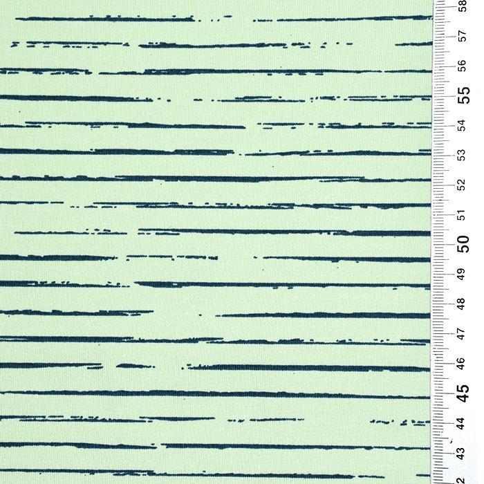 Jersey, bombaž, črte, 21432-16, zelena