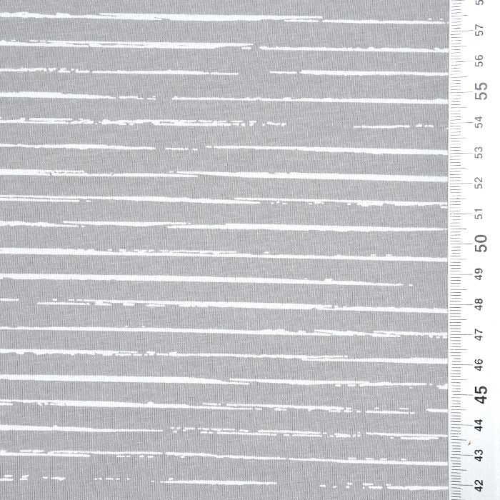 Jersey, bombaž, črte, 21432-40, siva