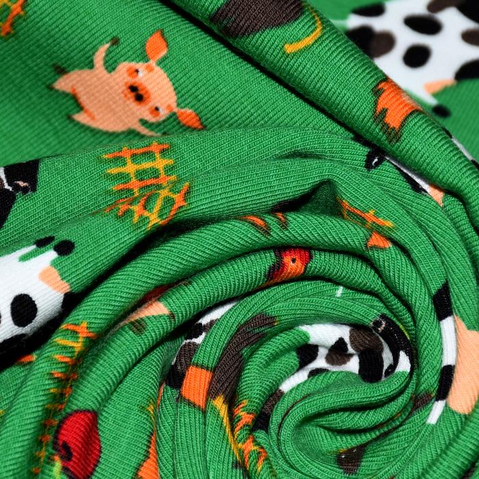 Jersey, bombaž, otroški, 21434-2, zelena