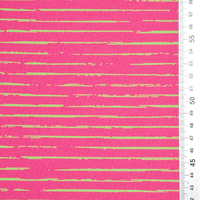 Jersey, bombaž, črte, 21432-10, roza