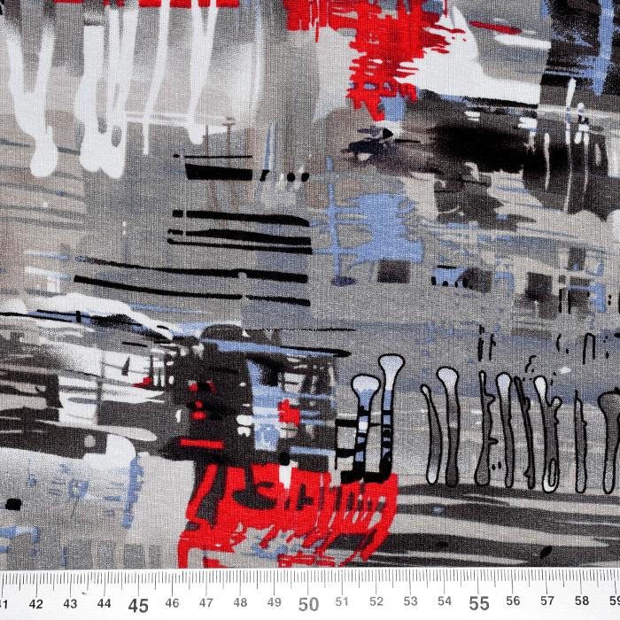 Jersey, viskoza, abstraktni, 20540-054, bež