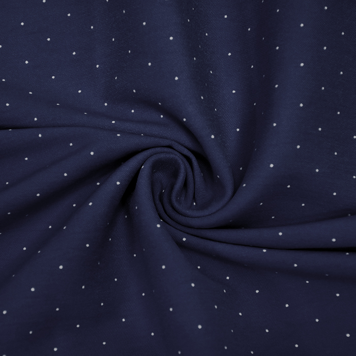 Tkanina, elastična, pikice, 20548-008, temno modra