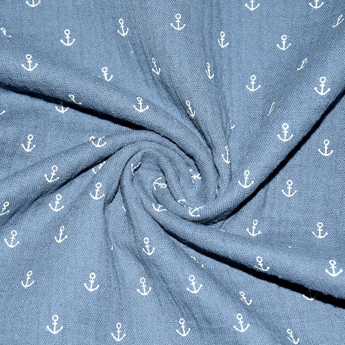 Tetra tkanina, dvojna, morski, 21456-006, modra