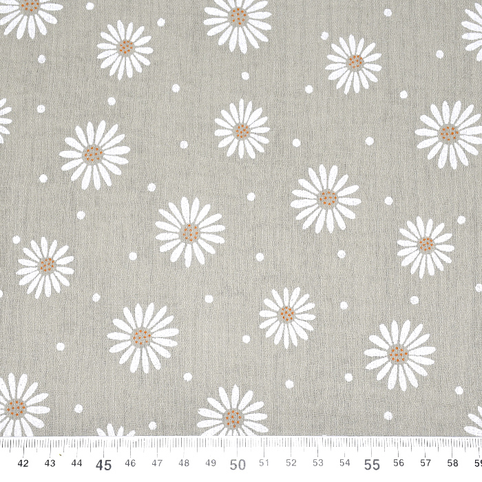Tetra tkanina, dvojna, cvetlični, 21457-052, rjava