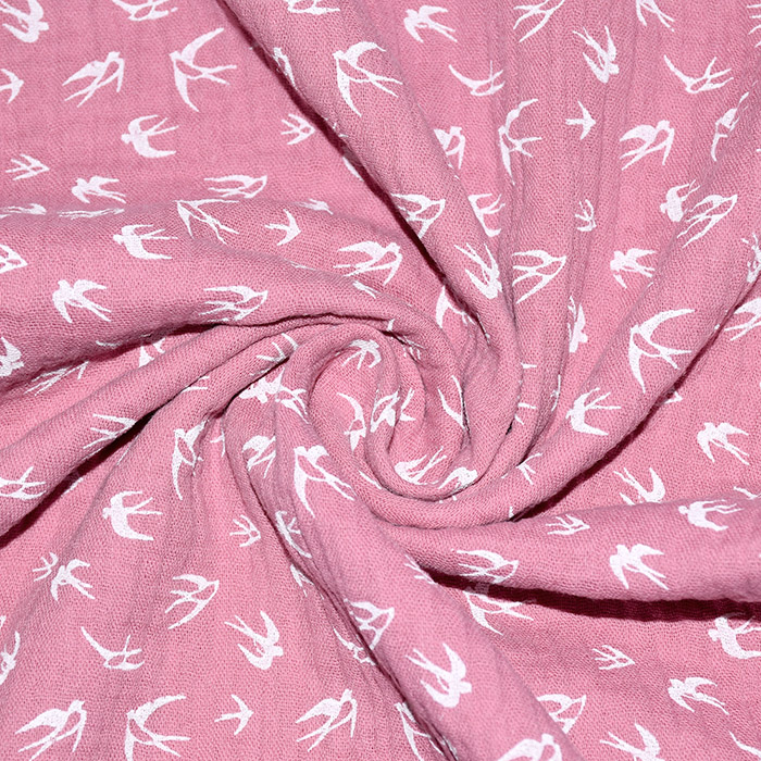 Tetra tkanina, dvojna, živalski, 21459-013, roza