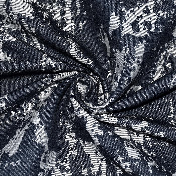 Jeans, žakard, 21461-008, temno modra