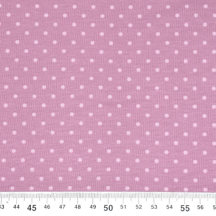 Jersey, bombaž, pikice, 21554-014, roza
