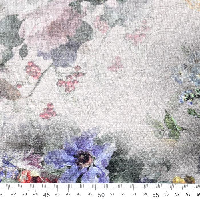 Jersey, viskoza, digital, cvetlični, 21375-6