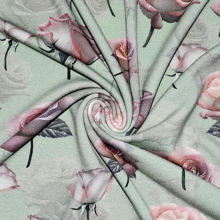Jersey, viskoza, digital, cvetlični, 21375-8