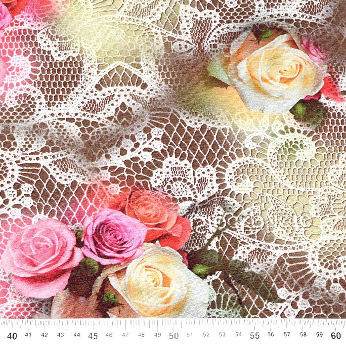 Jersey, viskoza, digital, cvetlični, 21375-13