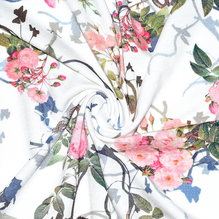 Jersey, viskoza, digital, cvetlični, 21375-14