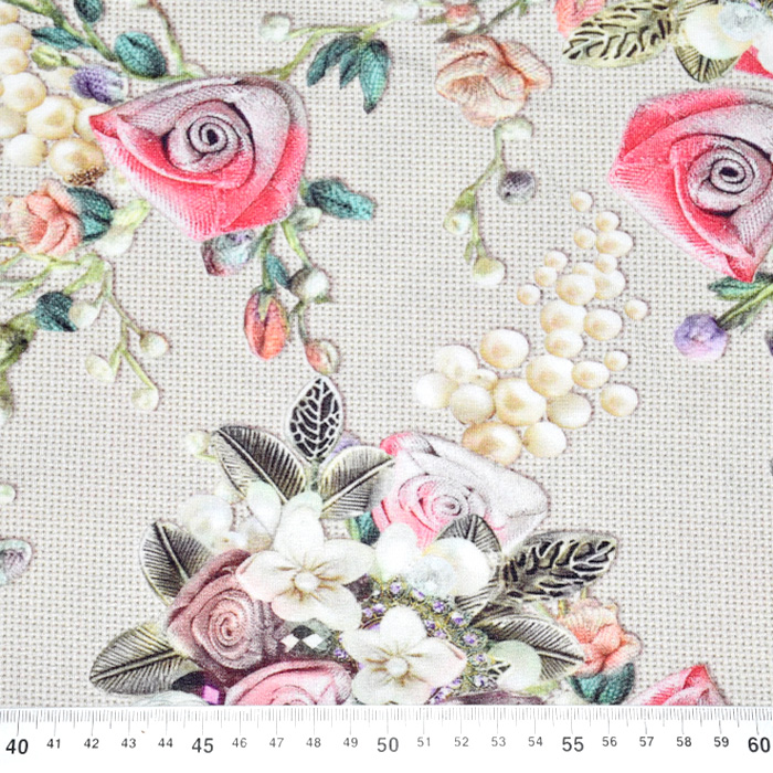 Jersey, viskoza, digital, cvetlični, 21375-20