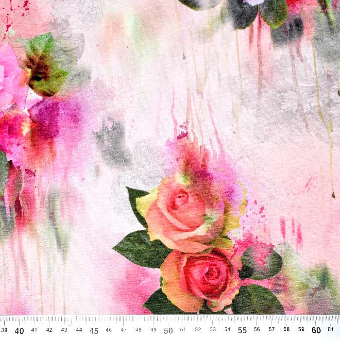 Jersey, viskoza, digital, cvetlični, 21375-33
