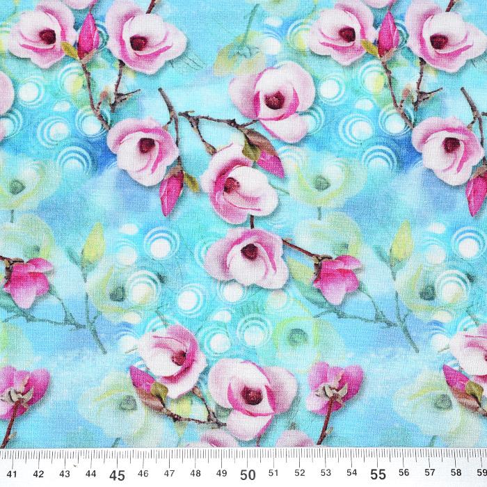 Jersey, viskoza, digital, cvetlični, 21375-36