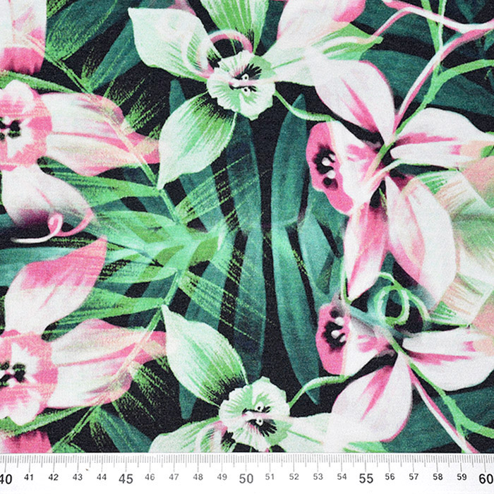 Jersey, viskoza, digital, cvetlični, 21375-41