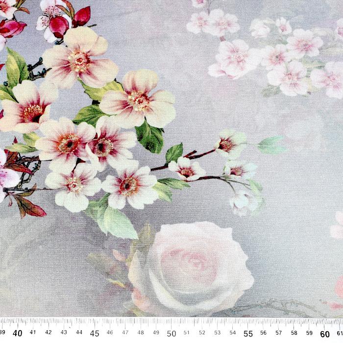 Jersey, viskoza, digital, cvetlični, 21375-42