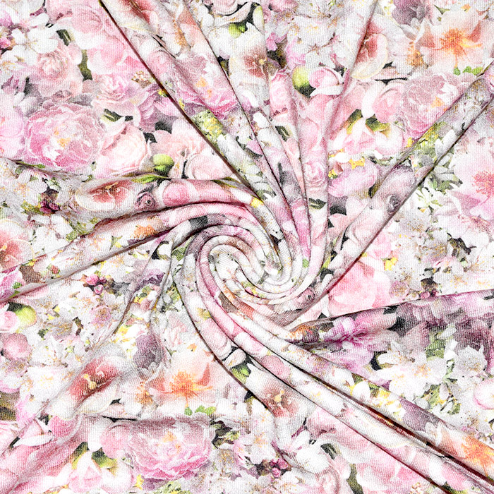 Jersey, viskoza, digital, cvetlični, 21375-60