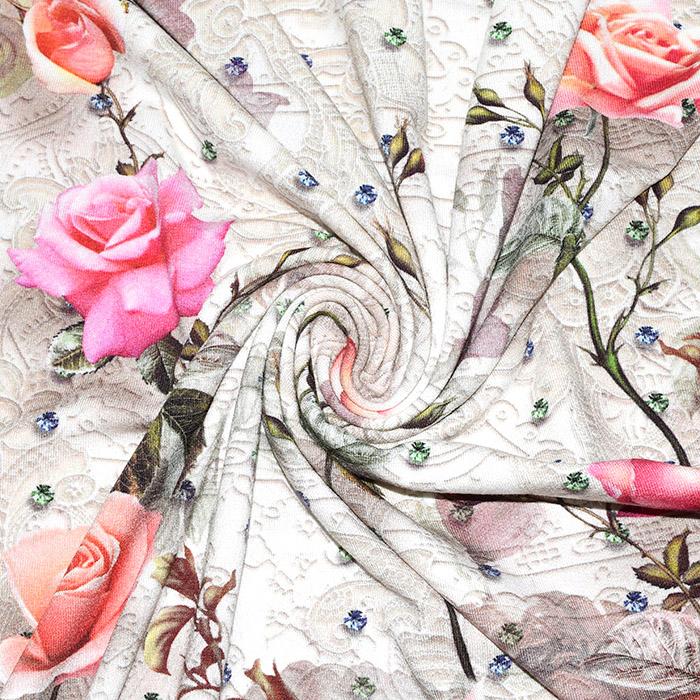 Jersey, viskoza, digital, cvetlični, 21375-65