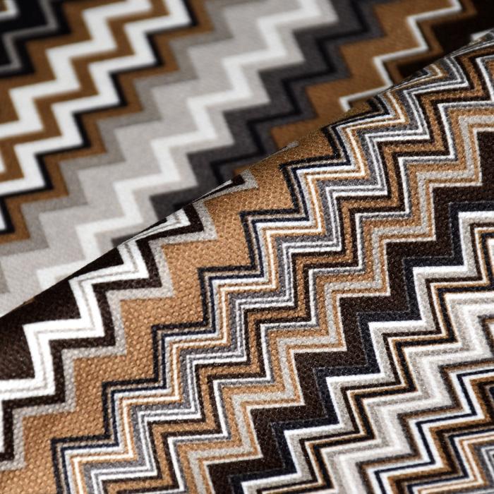 Mikrotkanina, geometrijski, 21573-600, rjava