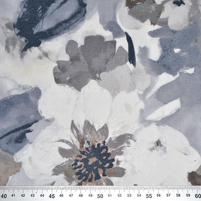 Mikrotkanina, cvetlični, 21558-600, siva